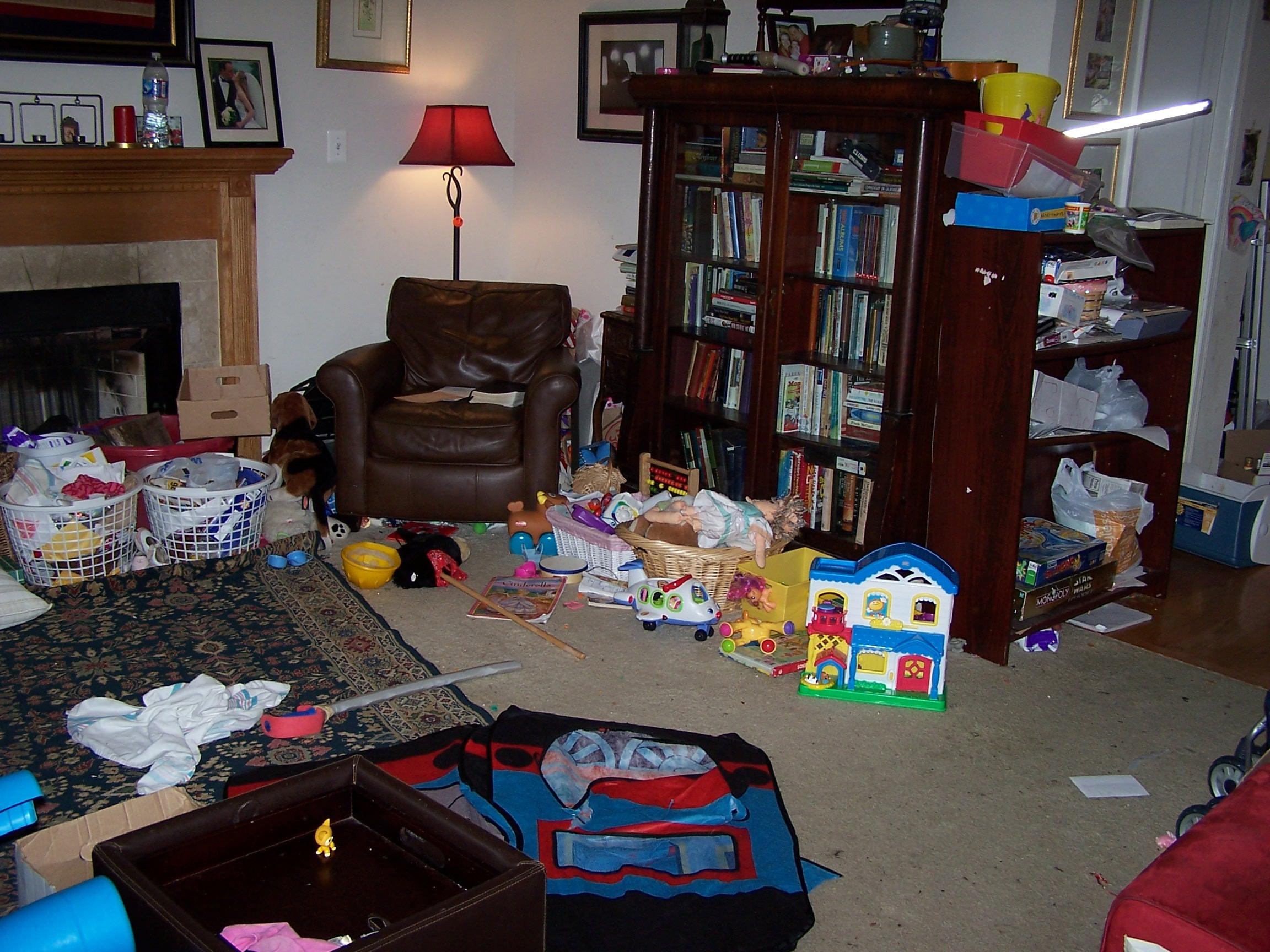 Messy Living Room Ma